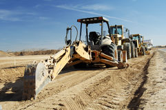 Construction equipment. In a residential building-site Royalty Free Stock Photos