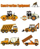 Construction equipment. An illustration of construction equipment Stock Photo