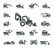 Construction equipment. Authors illustration in vector Royalty Free Stock Photo
