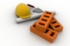 Construction equipment concept Stock Photo