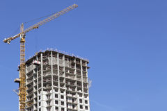Construction equipment on construction of the multi-storey apartment house. Stock Photos