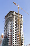 Construction equipment on construction of the multi-storey apartment house. Stock Photography