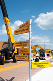 Construction equipment JCB at the exhibition Construction Equipment and Technologies 2013 in the  Crocus Exp Stock Image