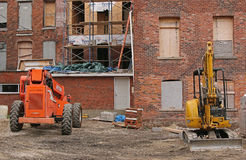 Construction equipment at job site Royalty Free Stock Photography