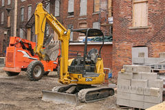 Construction equipment at job site Royalty Free Stock Image