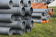 Construction equipment - pvc pipes Stock Images
