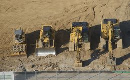 Construction Equipment ready for duty. Stock Image