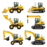 Construction Equipment Road Rollermechanism Stock Photography