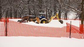 Construction Equipment Snowed In Stock Photos