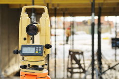 Construction equipment theodolite Royalty Free Stock Photos