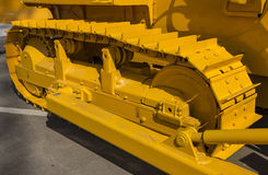 Construction equipment - unit. caterpillar tractor. fragment Stock Image
