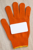 Construction equipment work protective glove Royalty Free Stock Image