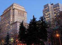 Construction et côté d'assurance à Montréal image libre de droits