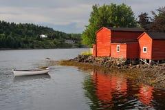 Construction et canot rouges photos libres de droits