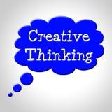Construction et Contemplatio de réflexion de moyens de bulle de pensée créative illustration de vecteur