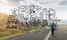 Construction et entretien industriels image libre de droits