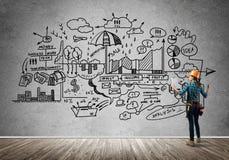 Construction et entretien industriels image stock