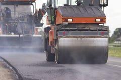 Construction et réparation de la route Photographie stock