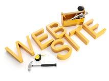 Construction et réparation des sites Web Photos libres de droits