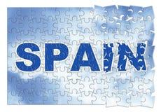 Construction et reconstruction de l'Espagne - image de concept dans les gabarits Images libres de droits