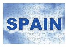 Construction et reconstruction de l'Espagne - image de concept dans les gabarits Image libre de droits