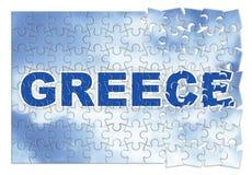 Construction et reconstruction de la Grèce - image de concept dans le gabarit Photo libre de droits