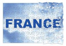 Construction et reconstruction des Frances - image de concept dans le gabarit Image stock