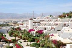 Construction et zone de récréation d'hôtel de luxe Images stock