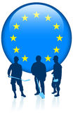 Construction with European Union Internet Button Stock Images