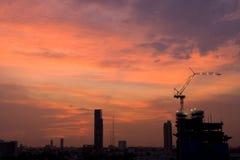 Construction. Evening in Bangkok Thailand Stock Photos