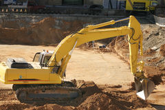 Construction: excavating dirt Stock Image