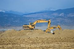 Construction Excavator Stock Images
