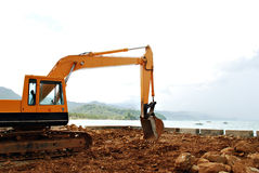 Construction Excavator Loader Royalty Free Stock Images