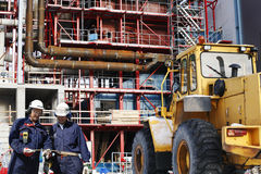 Construction of factory and site workers Stock Images