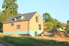 Construction of family house royalty free stock photo