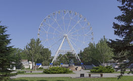 Construction of the Ferris wheel 65 meters in Rostov-on-Don Stock Photo