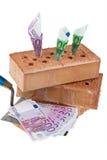 Construction, financing, building societies. Brick Royalty Free Stock Photo