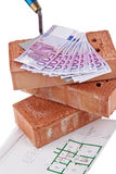 Construction, financing, building societies. Brick Stock Photos