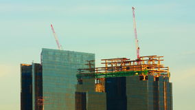 Construction of almost finish building stock video footage