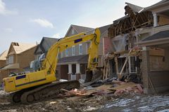 Construction after fire. Construction house after fire Royalty Free Stock Image