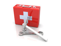 Construction First aid Stock Images