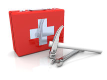 Construction First aid. 3D rendered Illustration. Construction First aid Royalty Free Stock Photos