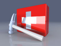 Construction First aid. 3D rendered Illustration. Construction First aid Stock Photography