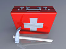 Construction First aid. 3D rendered Illustration. Construction First aid Stock Photo
