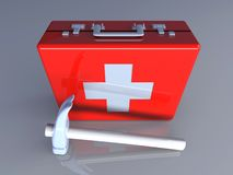 Construction First aid. 3D rendered Illustration. Construction First aid Royalty Free Stock Images