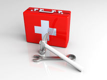 Construction First aid. 3D rendered Illustration. Construction First aid Stock Images
