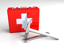 Construction First aid. 3D rendered Illustration. Construction First aid Stock Image