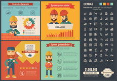 Construction flat design Infographic Template Royalty Free Stock Images