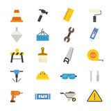 Construction Flat Icons color Stock Photo