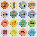 Construction Flat Icons Set Royalty Free Stock Photography